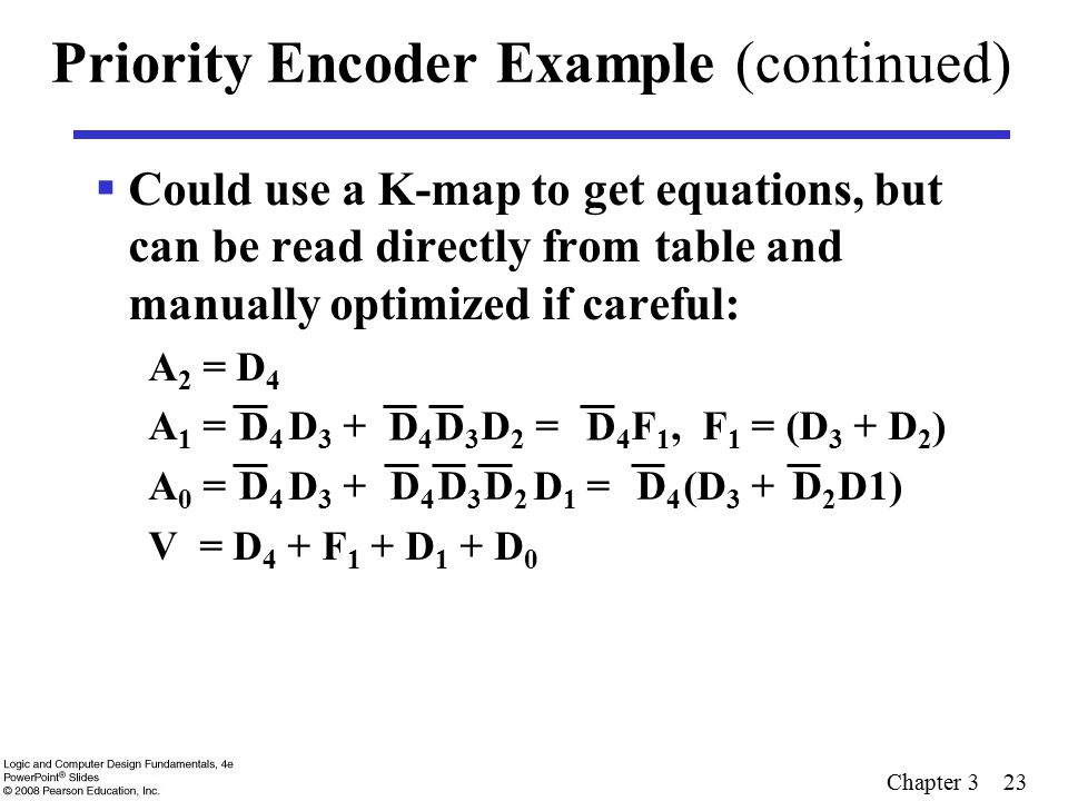 Priority Encoder Example (continued)