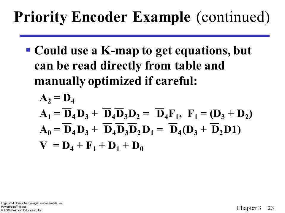 Priority Encoder Example (continued)