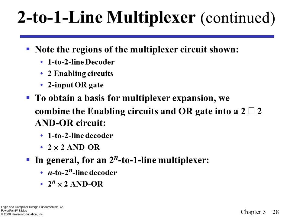 2-to-1-Line Multiplexer (continued)