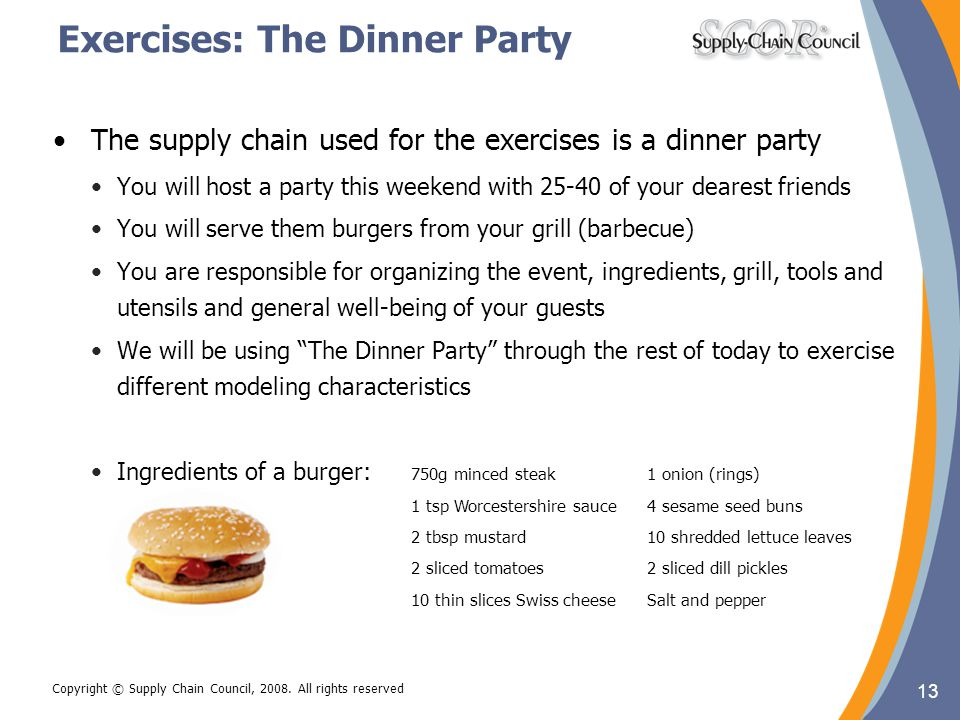 Exercises: The Dinner Party