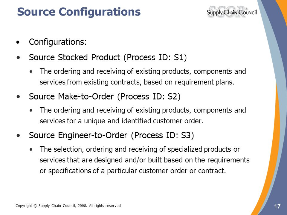 Source Configurations