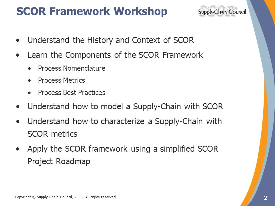 SCOR Framework Workshop