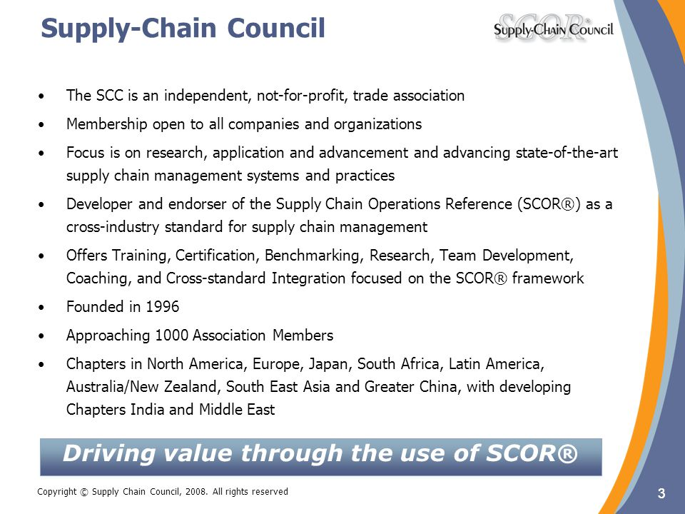 Driving value through the use of SCOR®