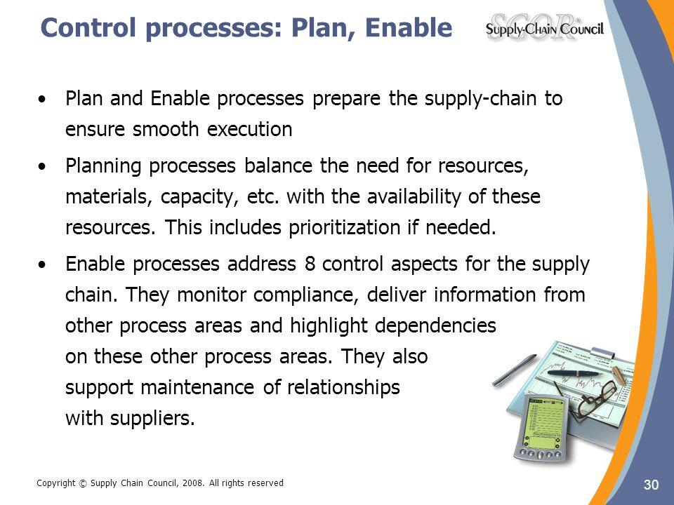 Control processes: Plan, Enable