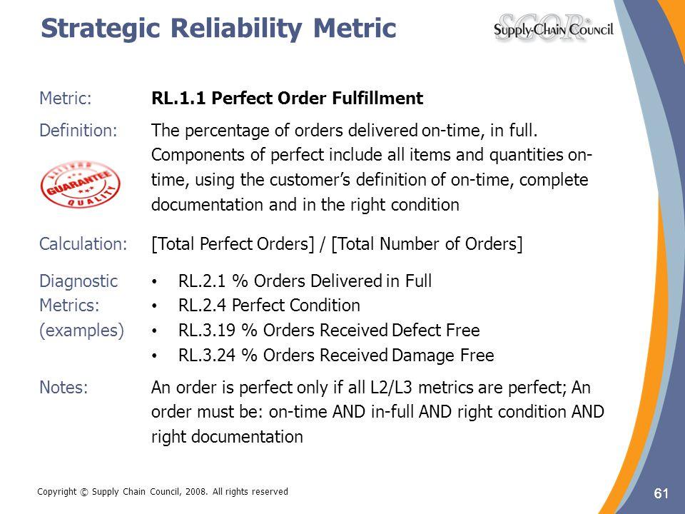 Strategic Reliability Metric