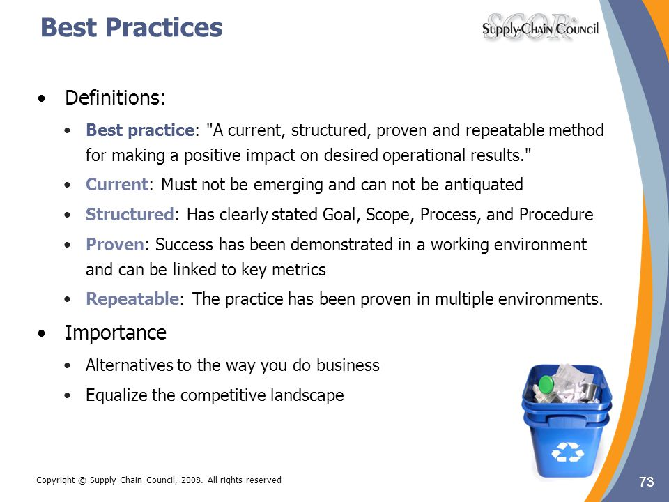 Best Practices Definitions: Importance