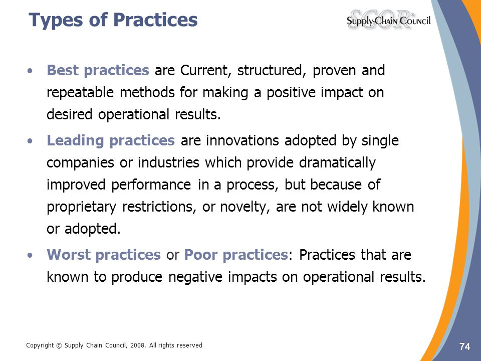 Types of Practices