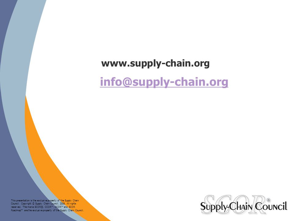 info@supply-chain.org www.supply-chain.org