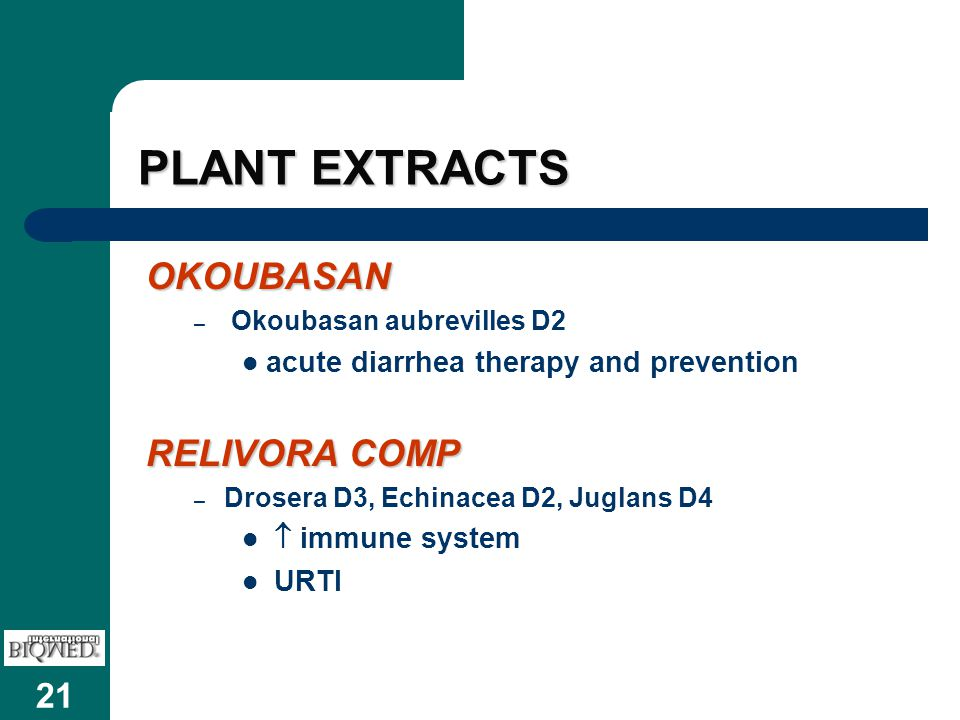 PLANT EXTRACTS OKOUBASAN RELIVORA COMP