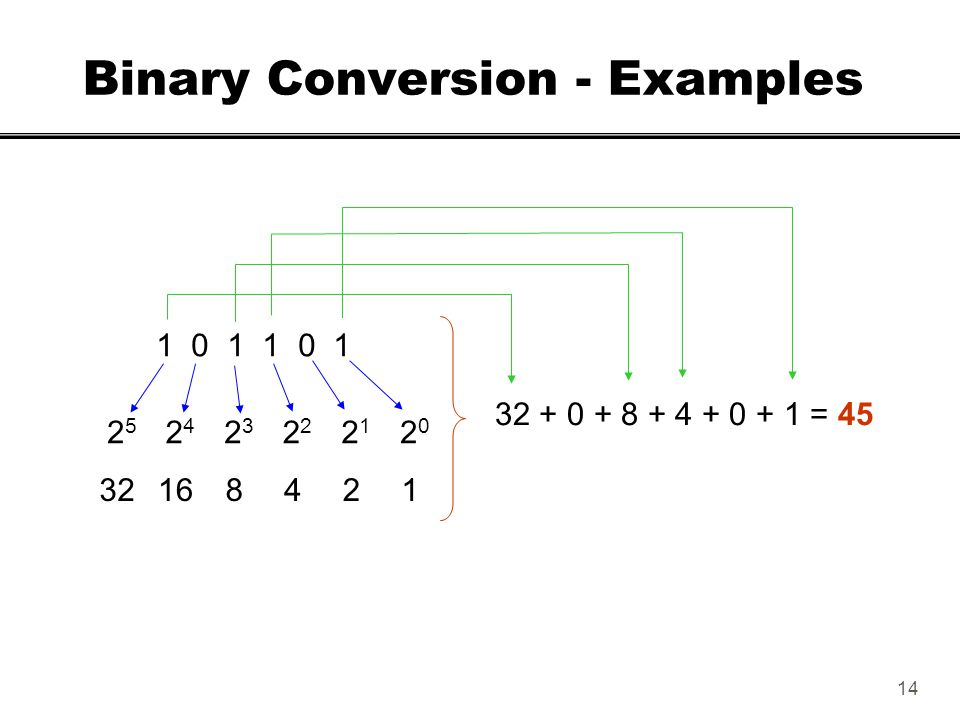 Binary Conversion - Examples