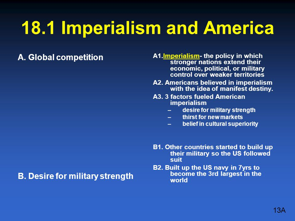 18.1 Imperialism and America