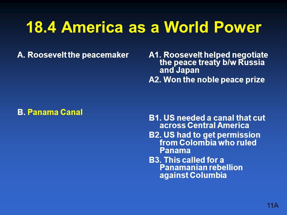18.4 America as a World Power