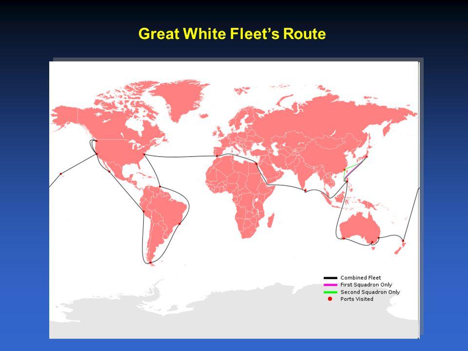 Great White Fleet's Route