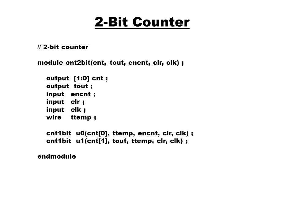 2-Bit Counter // 2-bit counter