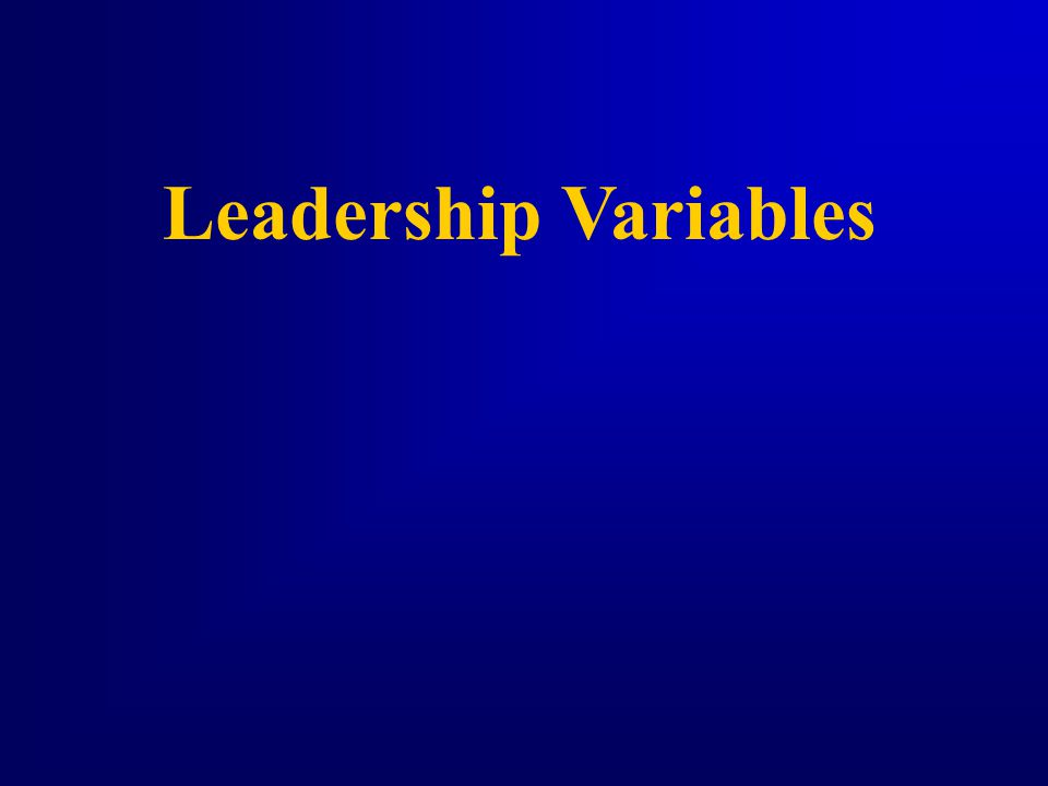 Leadership Variables