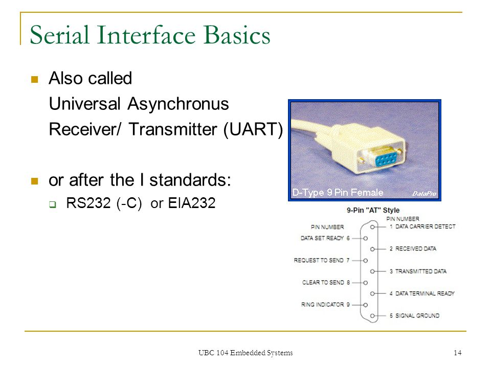 Serial Interface Basics