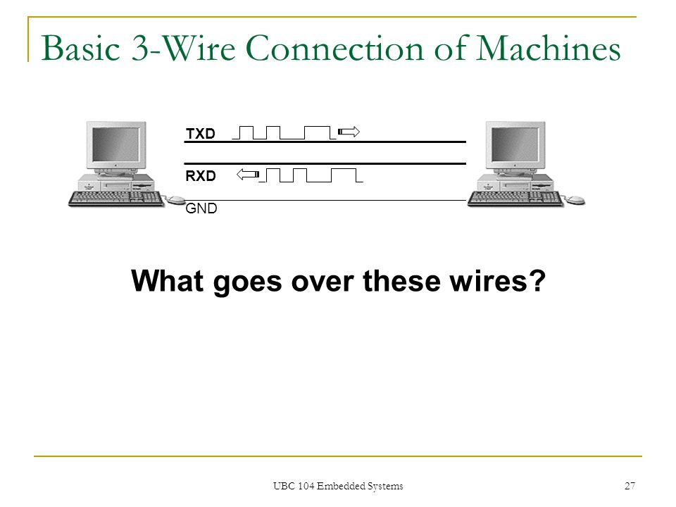 Basic 3-Wire Connection of Machines