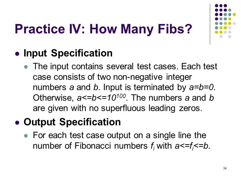 Practice IV: How Many Fibs