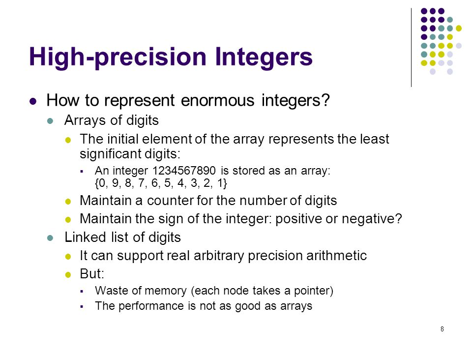 High-precision Integers