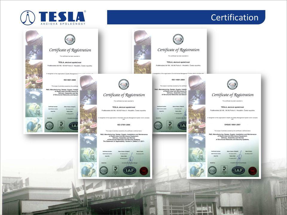 Certification Certifikace