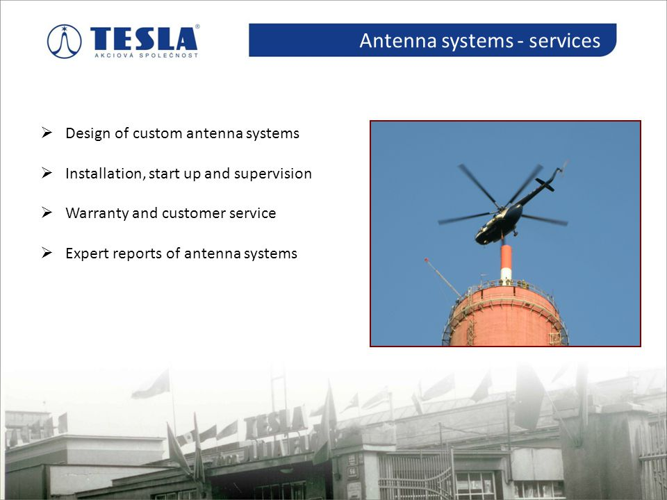 Antenna systems - services