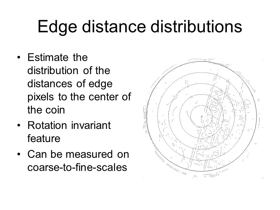 Edge distance distributions