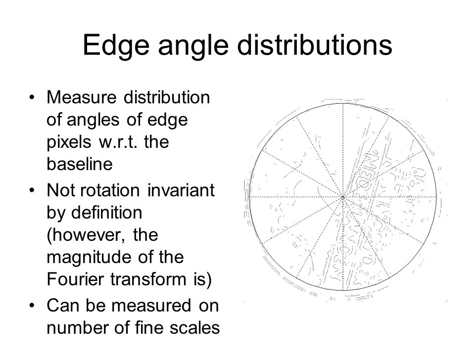 Edge angle distributions