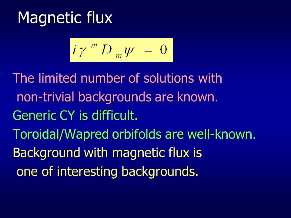 Magnetic flux