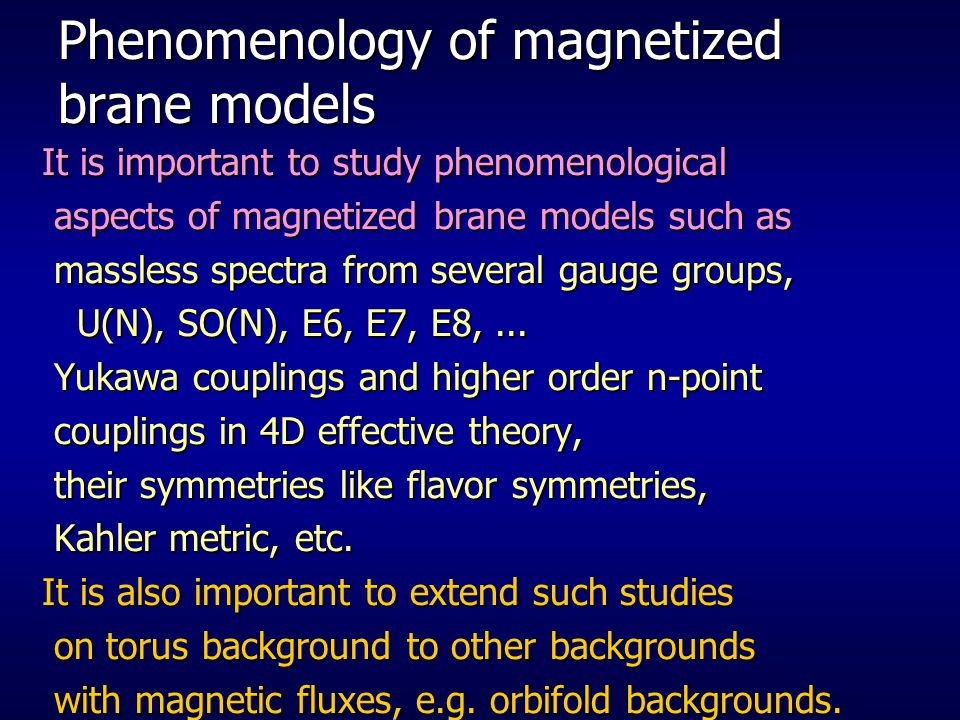 Phenomenology of magnetized brane models