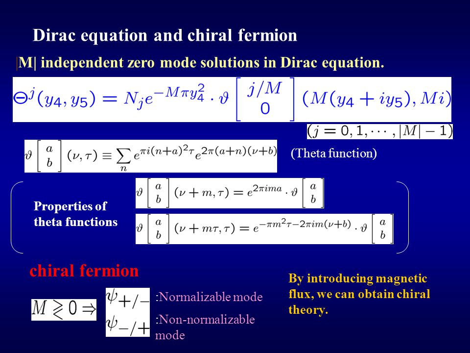 Dirac equation and chiral fermion