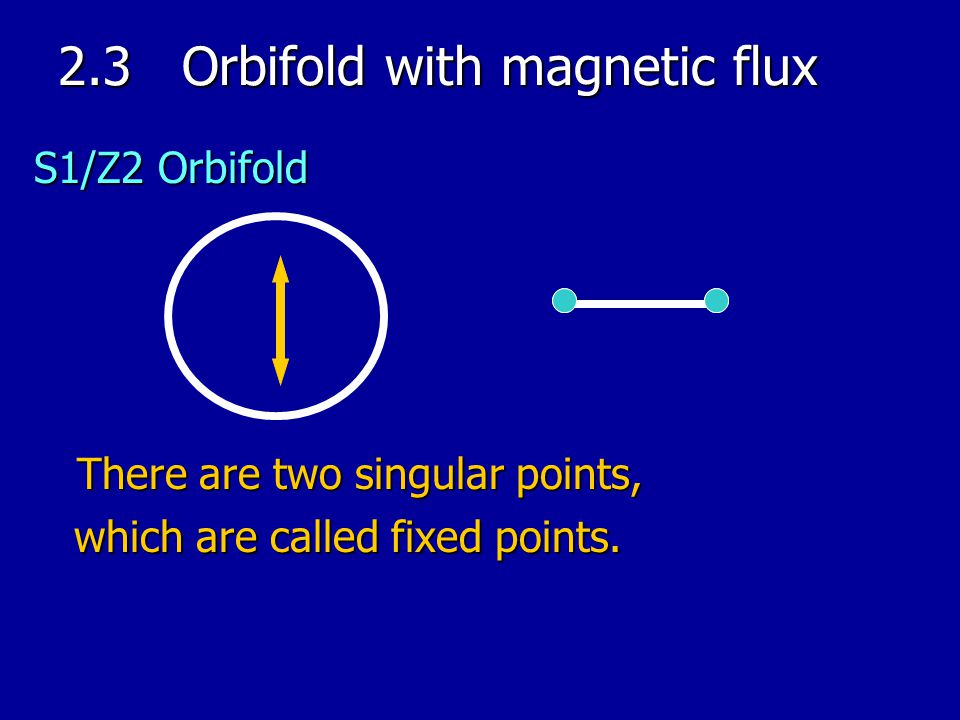 2.3 Orbifold with magnetic flux