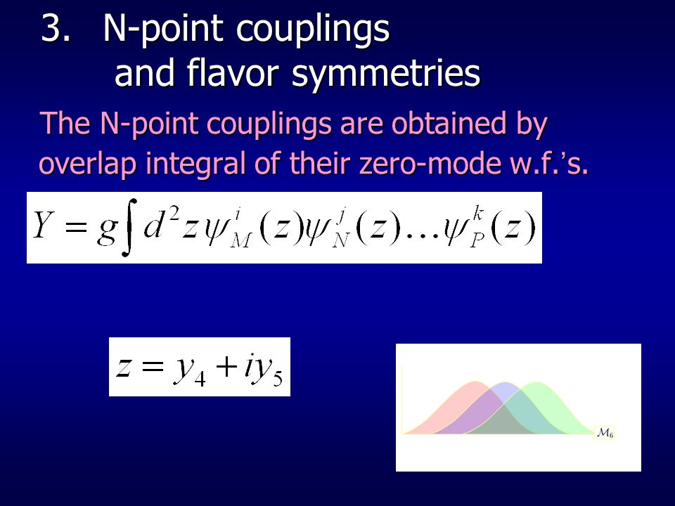 N-point couplings and flavor symmetries