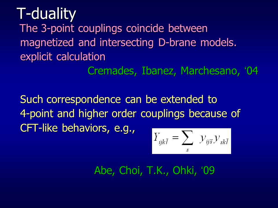 T-duality magnetized and intersecting D-brane models.