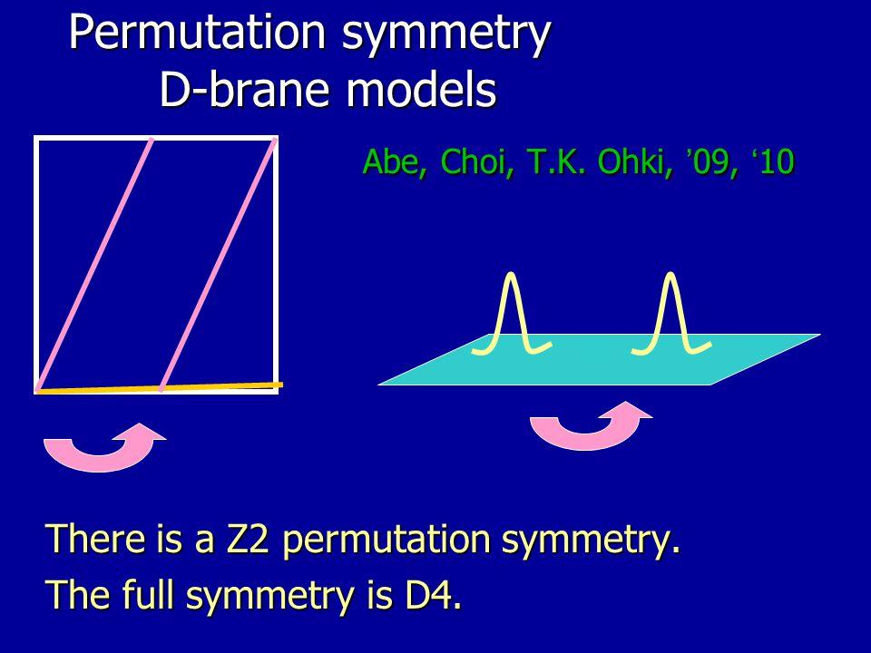 Permutation symmetry D-brane models