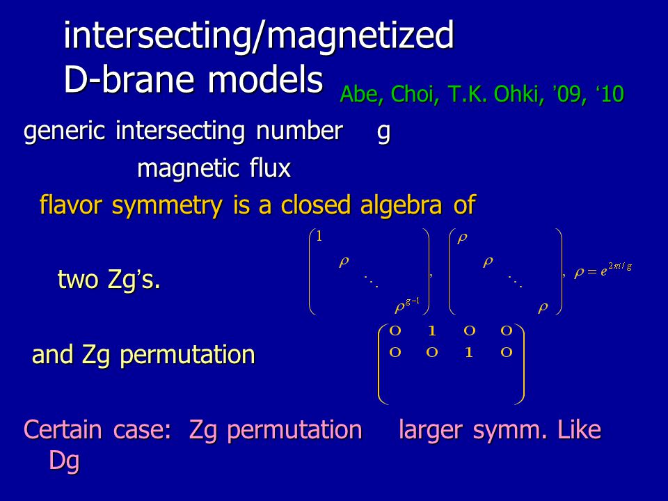 intersecting/magnetized D-brane models