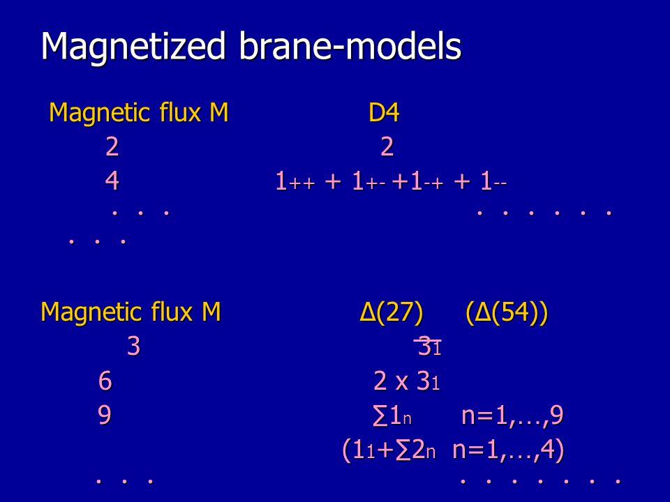 Magnetized brane-models