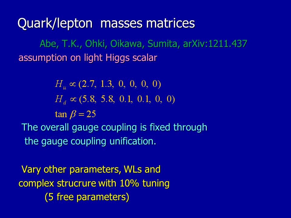 Quark/lepton masses matrices
