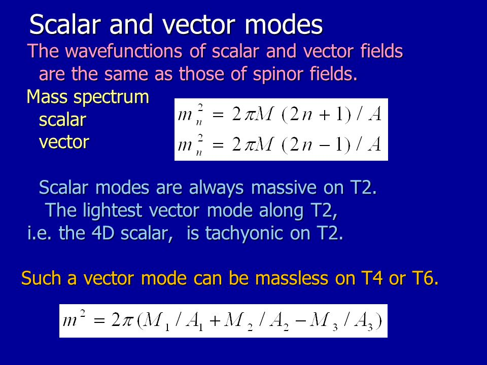 Scalar and vector modes