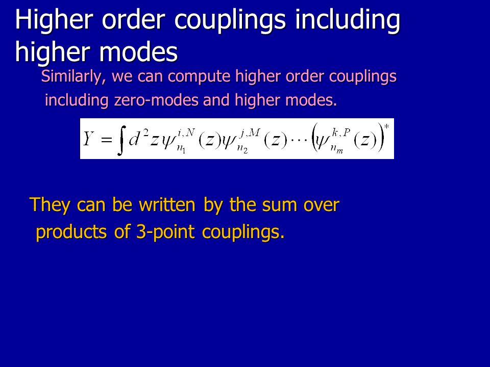 Higher order couplings including higher modes