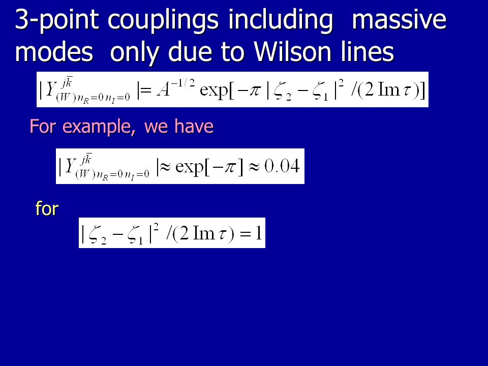 3-point couplings including massive modes only due to Wilson lines