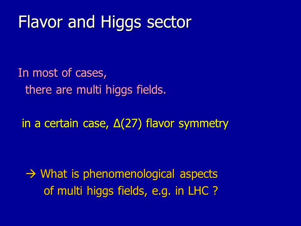 Flavor and Higgs sector