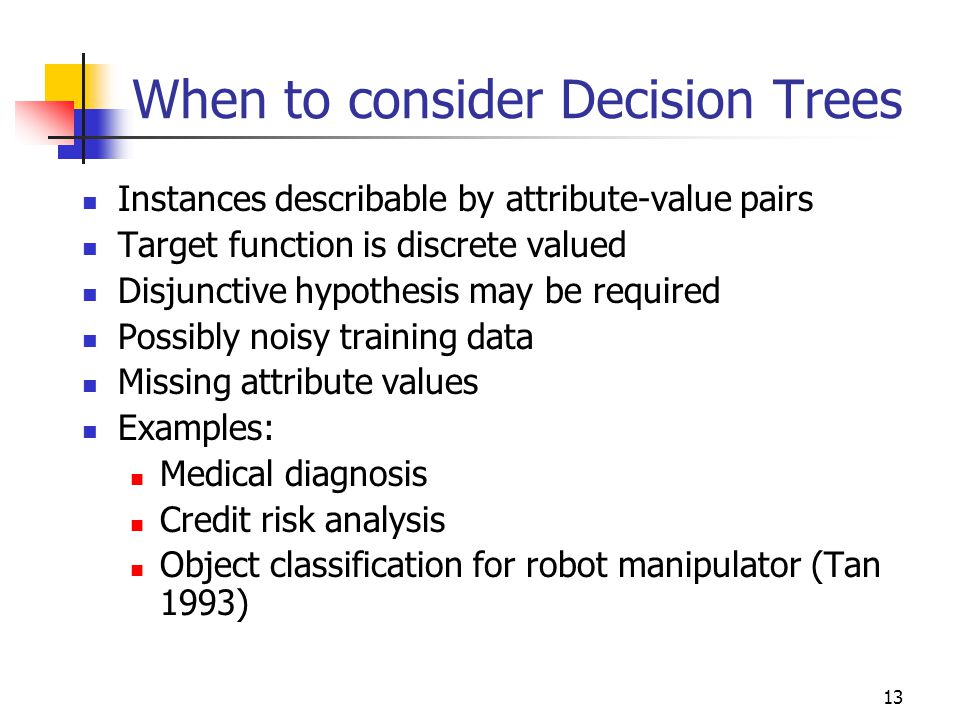 When to consider Decision Trees