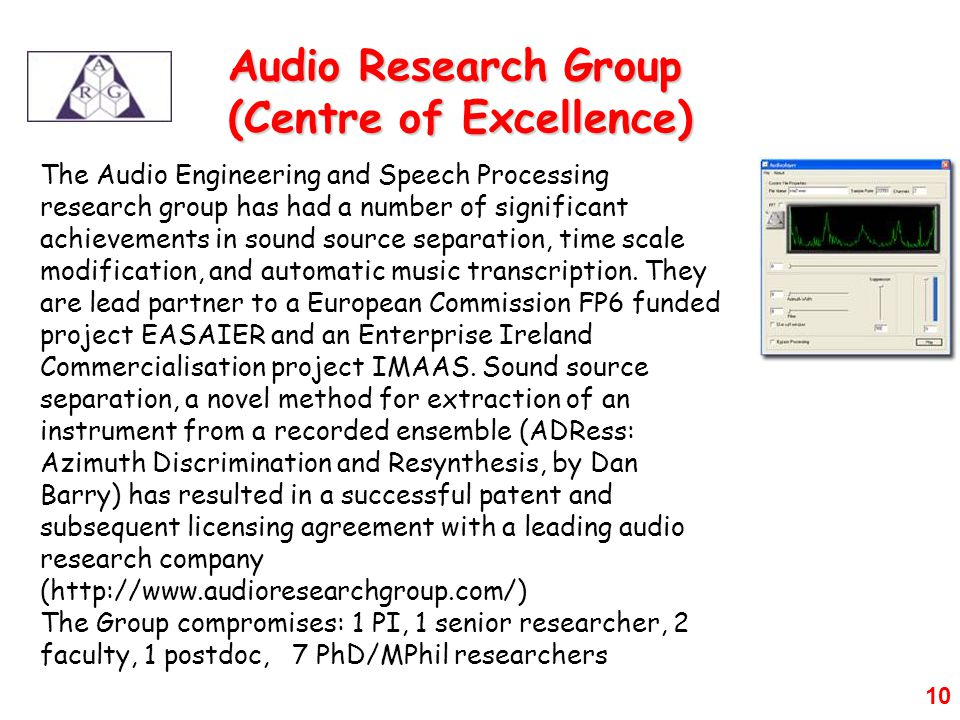 Audio Research Group (Centre of Excellence)