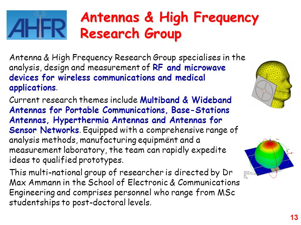Antennas & High Frequency Research Group