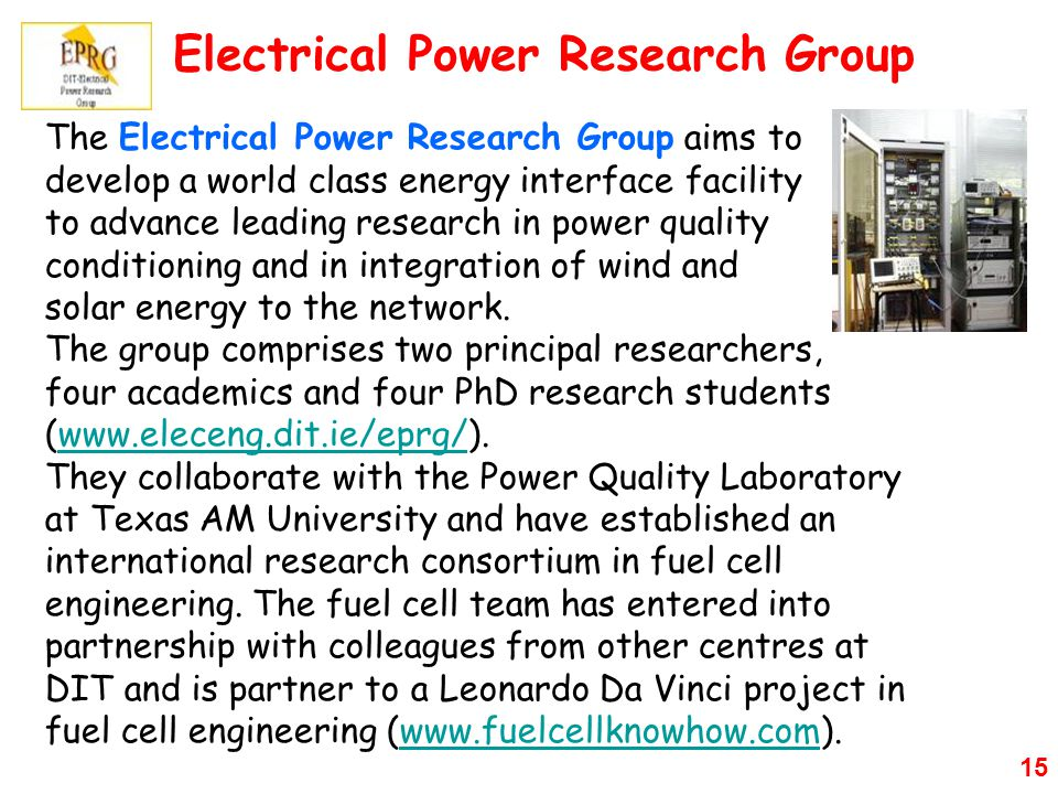 Electrical Power Research Group