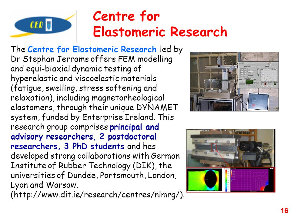 Centre for Elastomeric Research