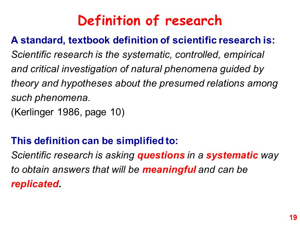 Definition of research