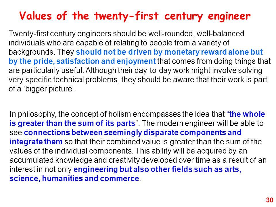 Values of the twenty-first century engineer