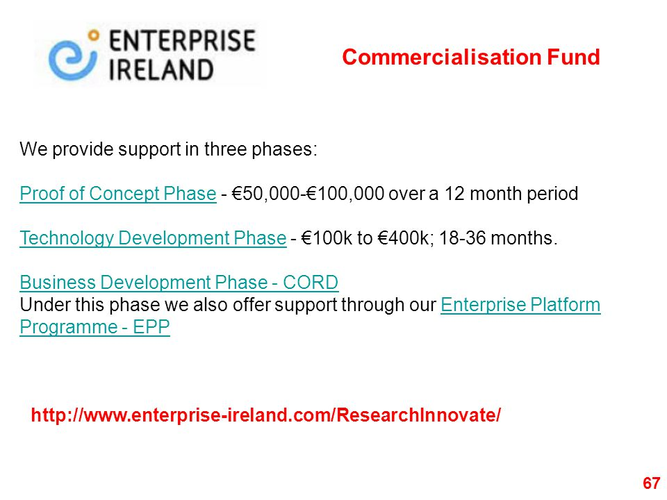 Commercialisation Fund
