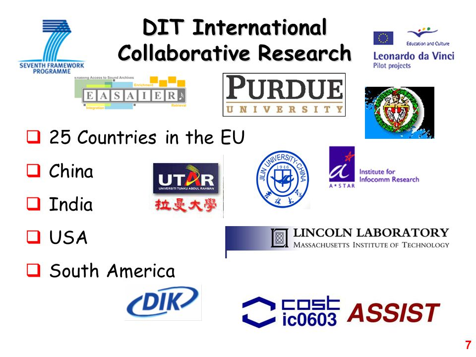 DIT International Collaborative Research